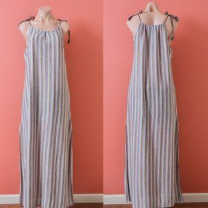 Zara Trafaluc Striped Textured Tank Maxi Dress